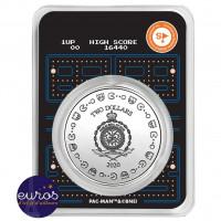 Revers du coincard NIUE 2020 - 2$ NZD PAC-MAN™ Couleur - 1oz argent