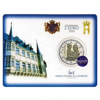 Coincard 2 euros BU Luxembourg 2020 - Naissance du Prince Charles - Mintmark Pont St Selve
