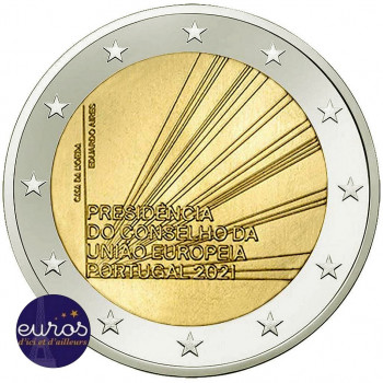 2 euros commémorative PORTUGAL 2021 - Présidence du Conseil de l'Union Européenne - UNC