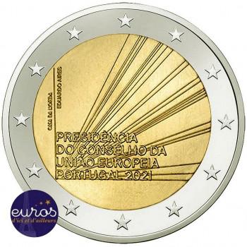 Rouleau 25 x 2 euros commémoratives PORTUGAL 2021 - Présidence du Conseil de l'Union Européenne - UNC