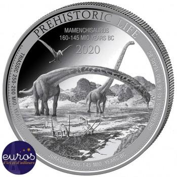 CONGO 2020 - Le Mamenchisaurus - La Vie Préhistorique - 1oz argent (3)