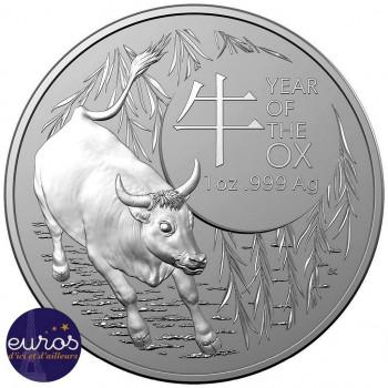 AUSTRALIE 2021 - 1oz argent - L'Année du Boeuf - Série Astrologie (n°2)