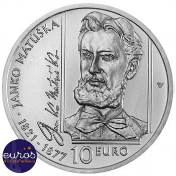 10 euros SLOVAQUIE 2021 - Janko Matúška - Argent 900‰ - Brillant Universel