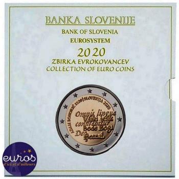 Set BU SLOVENIE 2020 - Série 1 cent à 2 euros + 2€ et 3€ commémoratives