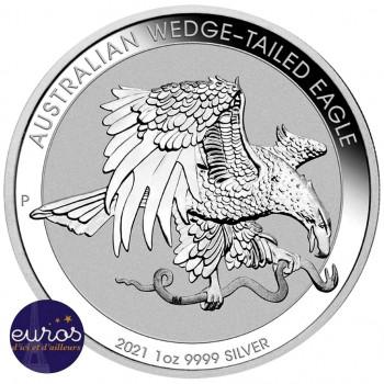 AUSTRALIE 2021 - 1$ AUD - Wedge-Tailed Eagle ou Aigle à Queue Blanche - 1 oz argent 999,99‰