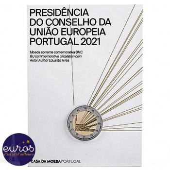2 euros commémorative PORTUGAL 2021 - Présidence du Conseil de l'Union Européenne - Brillant Universel