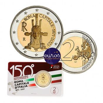 Coincard 2 euros commémorative ITALIE 2021 - 150ème anniversaire de Rome, Capitale - BU