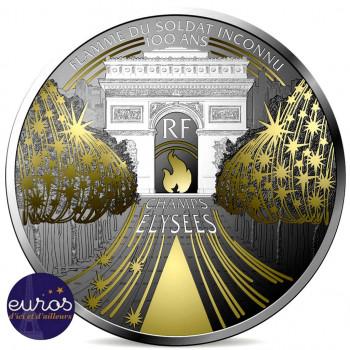 10 euros FRANCE 2020 - Champs Elysées - Trésors de Paris - Argent Belle Epreuve