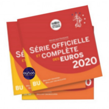 Set BU France 2020 - Série 1 cent à 2 euros Brillant Universel - Monnaie de Paris