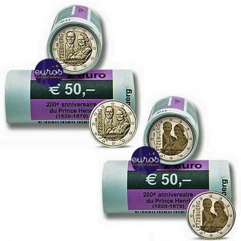 2 x rouleaux 25 x 2 euros...
