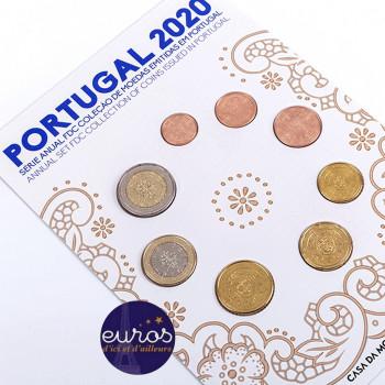 Set FDC PORTUGAL 2020 - Série 1 cent à 2 euros - Fleur de coin