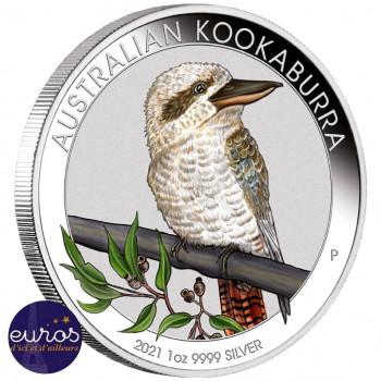 AUSTRALIE 2021 - 1$ AUD - KOOKABURRA - World Money Fair Berlin - Argent 1oz 999,9 ‰