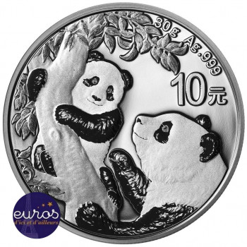 CHINE 2021 - 10 yuan - Panda - Argent 30 grammes - Bullion