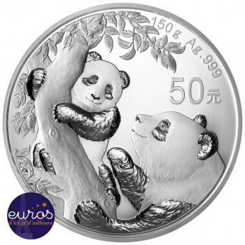 CHINE 2021 - 50 yuan - Panda - Argent 150 grammes - Belle Epreuve