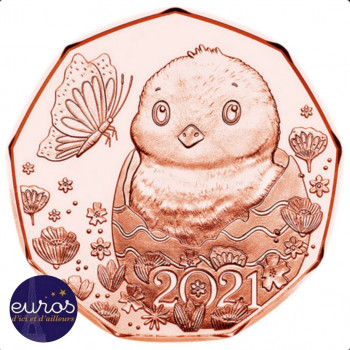 5 euros AUTRICHE 2021 -...