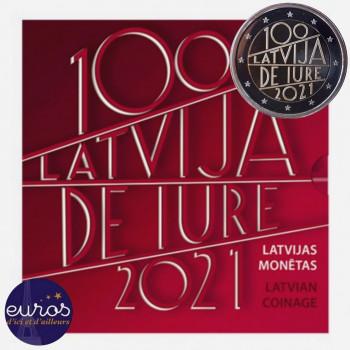 Set BU LETTONIE 2021 - 100 ans de Reconnaissance  République Lettonie - Brillant Universel
