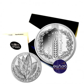 20 euros argent BE FRANCE 2021 - Laurier - Belle Epreuve
