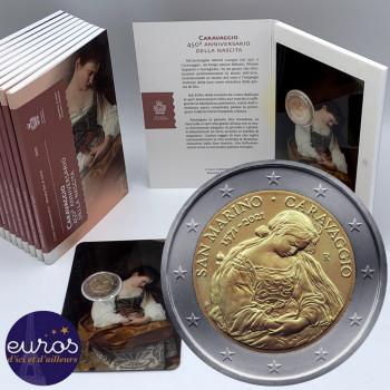2 euros commémorative SAINT MARIN 2021 - Naissance de Caravage - BU