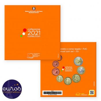 Set BU ITALIE 2021 - Série 1 cent à 2 euros - Brillant Universel
