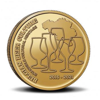 Coincard FR 2,5 euros BELGIQUE 2021 - Version Française - Bière : Patrimoine Culturel - BU