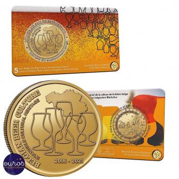 Coincard FL 2,5 euros BELGIQUE 2021 - Version Flamande - Bière : Patrimoine Culturel - BU