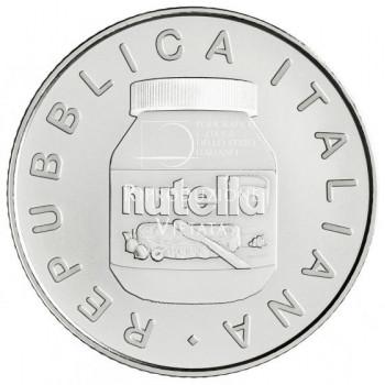 Avers de la pièce de 5 euros ITALIE 2021 - Excellence Italienne : NUTELLA™ Blanc - Argent 925‰