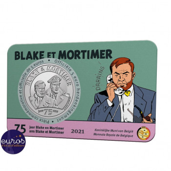Coincard 5 euros BELGIQUE 2021 - Blake et Mortimer - Version relief