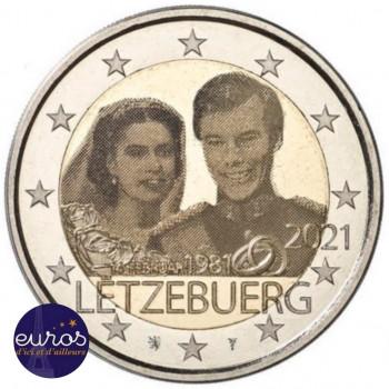 2 euros commémorative LUXEMBOURG 2021 - 40ème anniversaire Mariage - Version Photo - UNC
