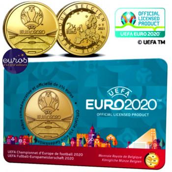 Coincard FL 2,5 euros BELGIQUE 2021 - UEFA™ EURO 2020 - BU