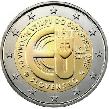 2 euros commémorative SLOVAQUIE 2014 - Anniversaire entrée de la Slovaquie dans l'Ue