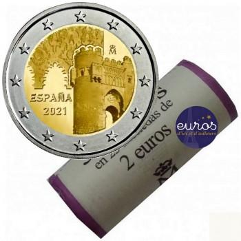 Rouleau 25 x 2€ ESPAGNE 2021 - UNESCO, Puerta Toledo