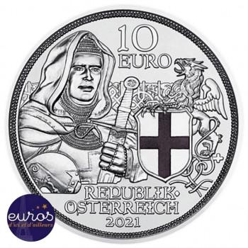 10 euros commémorative AUTRICHE 2021 - Chevalerie - Fraternité - Argent - Belle Épreuve