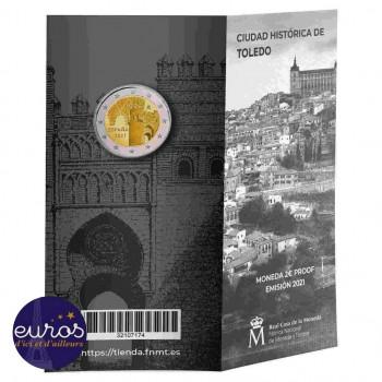 2 euros commémorative ESPAGNE 2021 - Puerta Toledo - UNESCO - Belle Epreuve