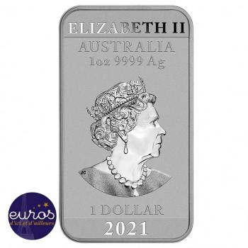 AUSTRALIE 2021 - Le Dragon Chinois - 1 oz d'argent pur - Bullion revers
