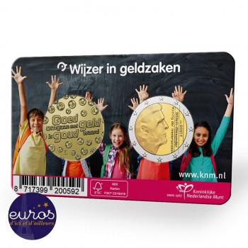 Coincard 2€ + médaille PAYS-BAS 2021 - Anniversaire de la semaine nationale de la monnaie - Avers