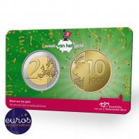 Coincard 2€ + médaille PAYS-BAS 2021 - Anniversaire de la semaine nationale de la monnaie - revers