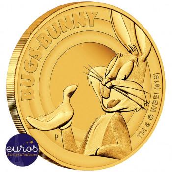 Revers de cette pièce d' 1/4oz or représentant le plus célébre des lapins : Bugs Bunny™
