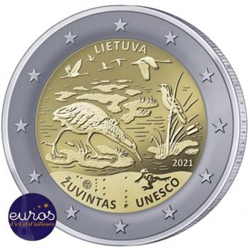 ouleau 25 x 2 euros commémoratives LITUANIE 2021 - Réserve de Biosphère de Zuvintas