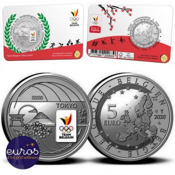 Coincard 5 euros BELGIQUE 2021 - Team Belgium - Version colorisée