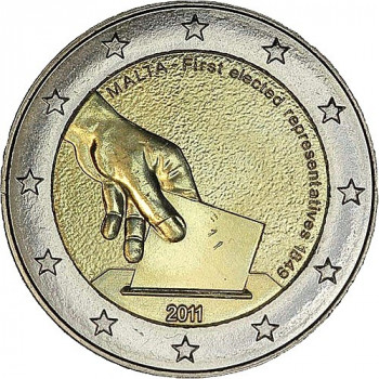 2 euros commémorative  MALTE 2011 - Elections des premiers représentants de Malte