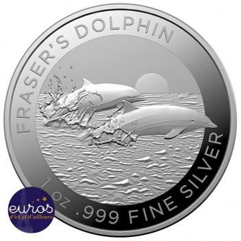 AUSTRALIE 2021 - 1$ AUD - Le Dauphin de Fraser - 1oz - Argent 999,99‰ - Bullion Coin