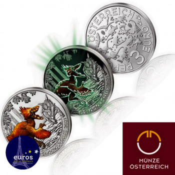 3 euros AUTRICHE 2021 -...