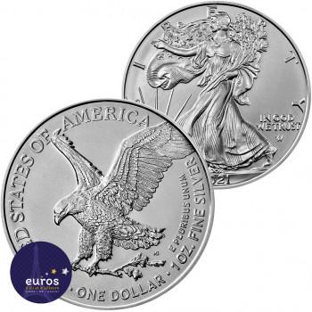 Avers et revers de la pièce Silver Eagle Type 2 - Etats-Unis 2021 - 1oz argent - Bullion