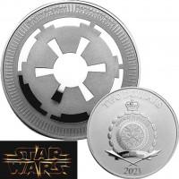 NIUE 2021 - 2$ NZD - The Galactic Empire™ - 1oz argent - Logo Star Wars™
