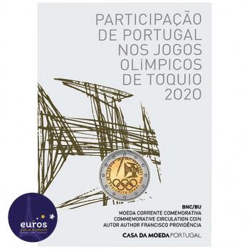 2 euros commémorative PORTUGAL 2021 - Jeux Olympiques à Tokyo - Brillant Universel