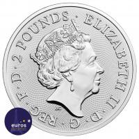 Revers de la pièce GRANDE-BRETAGNE 2021 - 2£ The Who - Légendes Musicales - 1oz Argent 999,99‰ - Bullion