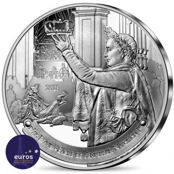 Avers de la pièce de 10 euros FRANCE 2021 - Louvre - Le Sacre de Napoléon 1er - Argent Belle Epreuve