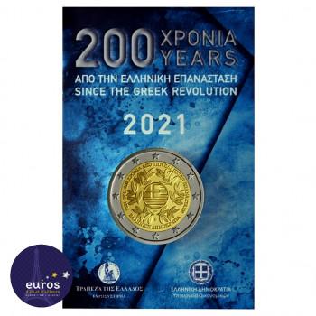 Coincard 2 euros commémorative GRÈCE 2021 - 200 ans depuis la Révolution Grecque