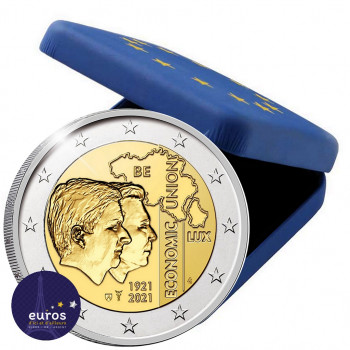 2 euros commémorative BELGIQUE 2021 - 100 ans de l'Union économique belgo-luxembourgeoise (UEBL) - Belle Epreuve