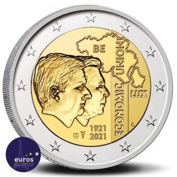 2 euros commémorative BELGIQUE 2021 - 100 ans de l'Union économique belgo-luxembourgeoise (UEBL) - BU